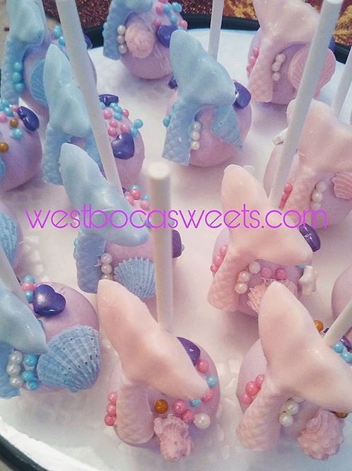 Mermaid Cake Pops -12