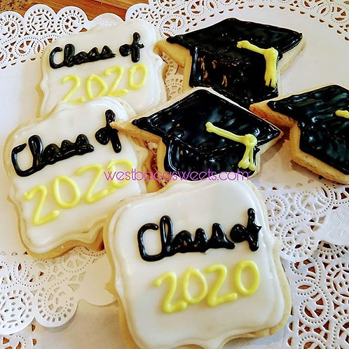 Graduation Sugar Cookies - 12