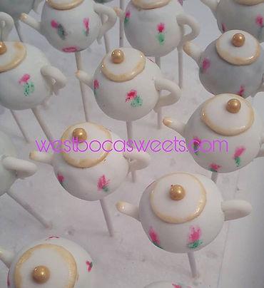 #teapot #cakepops #bridalshower #vintage