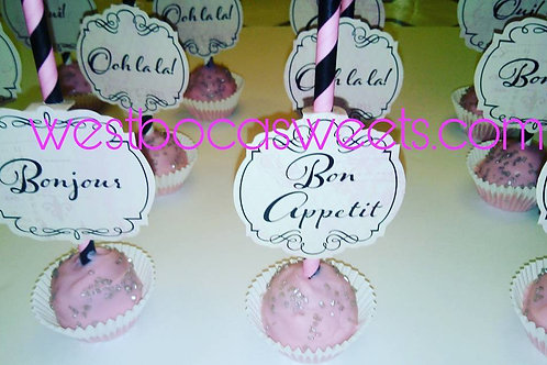 Paris Inspired Cake Pops - 12