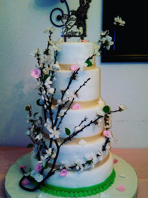 Vines Inspired Wedding Cake - Starting at $400