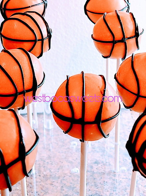 Basketball Cake Pops - 12