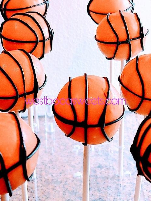 Basketball Cake Pops - 12