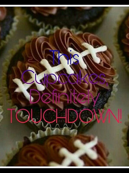 Football Cupcakes - 12