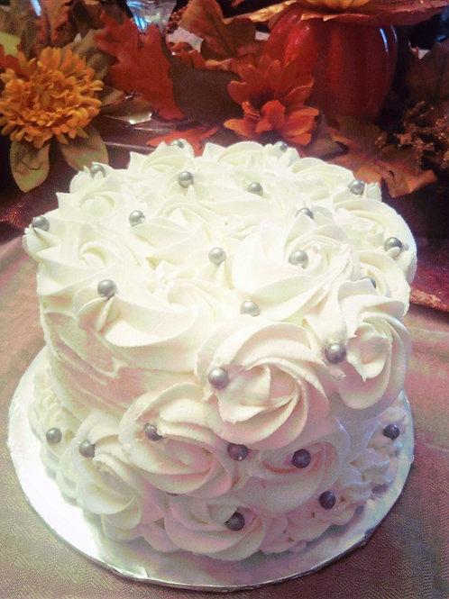 Vanilla Rosette Cake - serves 8-10