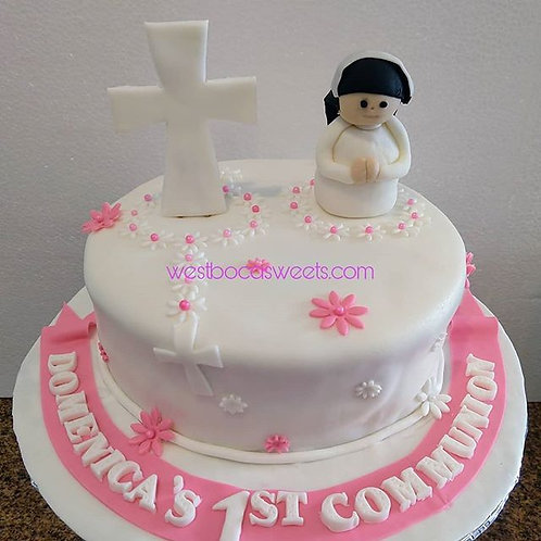 Personalized 1st Communion Cake