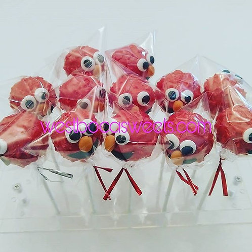 Elmo Inspired Cake Pops- 12