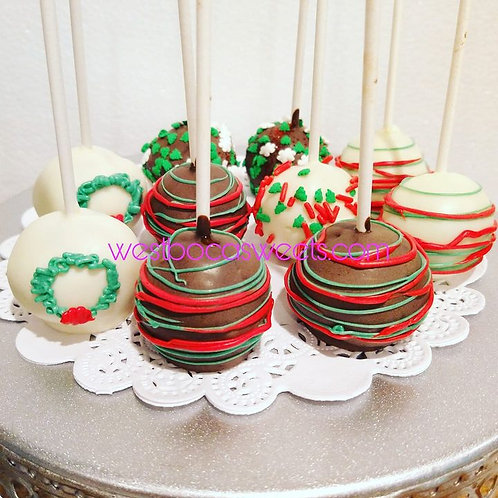 Christmas Inspired Cake Pops - 12
