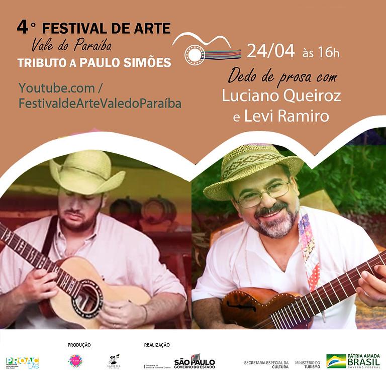 Dedo de prosa com os violeiros Luciano Queiroz e Levi Ramiro