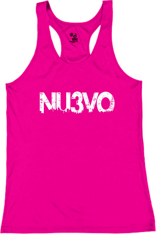 NU3VO LADIES RACER BACK T-SHIRTS