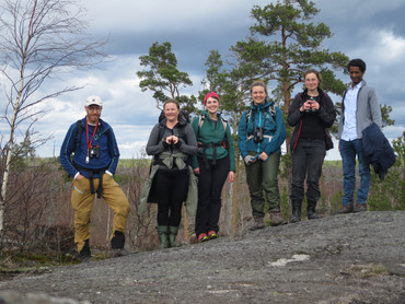 Group excursion to an old burned area - Tyresta national park