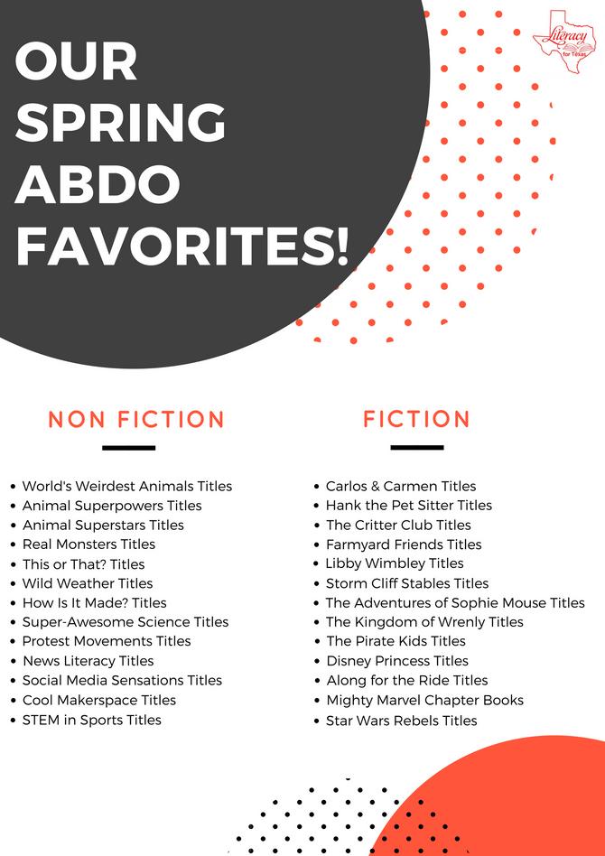 Our Spring ABDO Favorites!