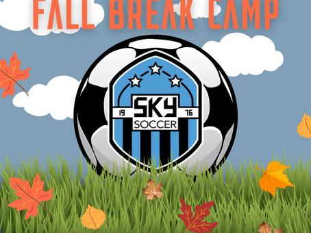 Fall Break Camp Registration is NOW OPEN