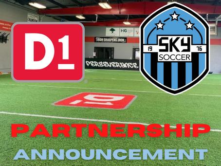 D1 Training Bowling and SKY Soccer Club Partnership