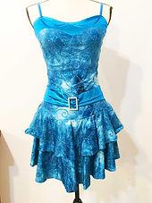 orchestra blue belted dress.JPG