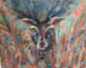 Stag Painting in Oils