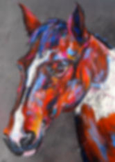 Horse Portrait, animal art, pastel