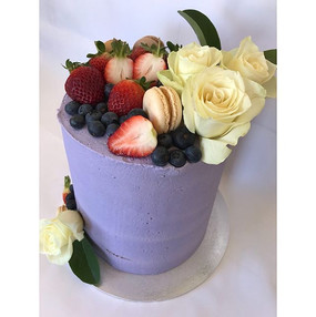 Top view of the purple, rose, macaron, f