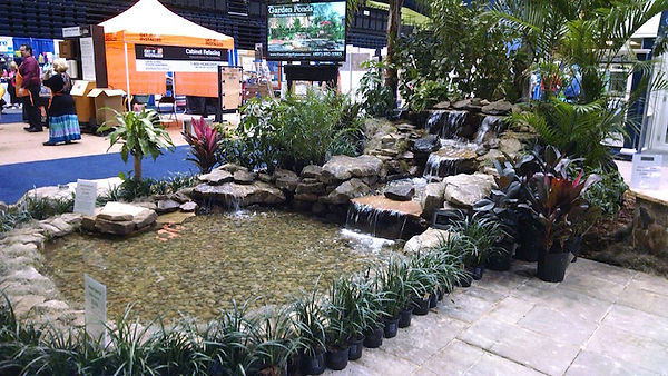 TR.SR.Home Show. large pond and waterfal