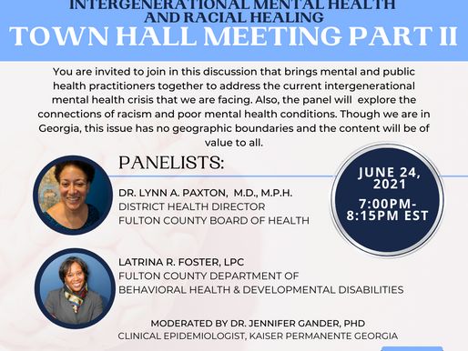 Part II: Town Hall Meeting: Intergenerational Mental Health and Racial Healing