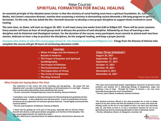 SPIRITUAL FORMATION FOR RACIAL HEALING