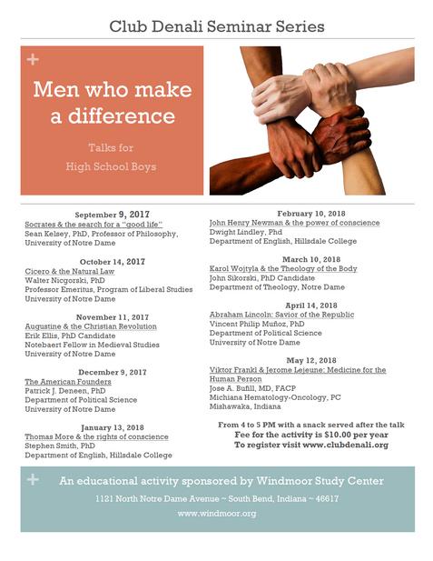 """Men who make a difference"" Seminars"