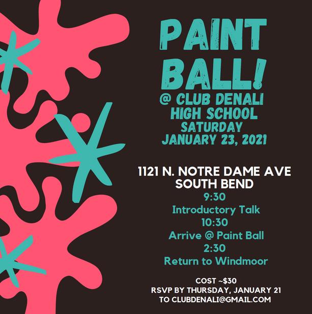 Paint Ball War, January 2021