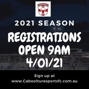 Registrations Now Open 2021