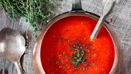Kekikli Sütlü Domates Çorbası