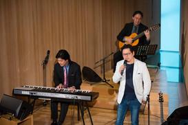 Three men concert / David Choe, Hideo Kobori, Hirosato Ikeda