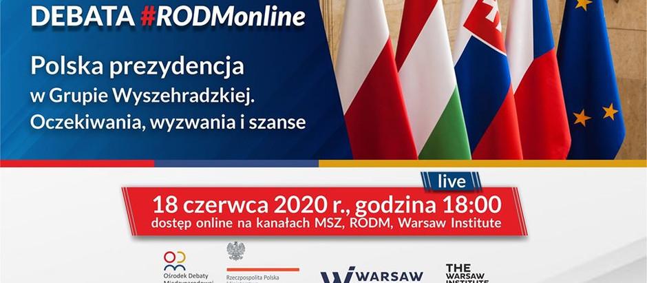 Polska prezydencja w Grupie Wyszehradzkiej – oczekiwania, wyzwania i szanse