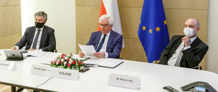 Wideokonferencja ministrów spraw zagranicznych UE