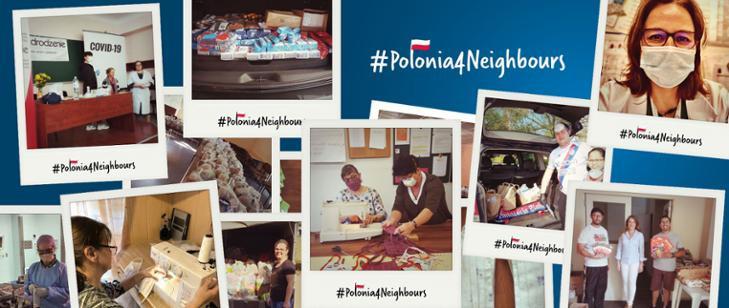 Akcja Polonia4Neighbours i działania Polonii w zwalczaniu pandemii koronawirusa na świecie