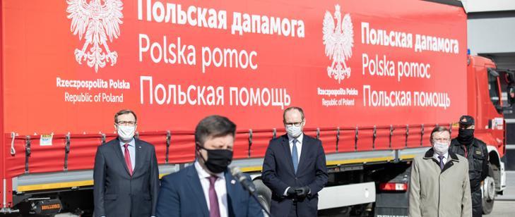 Polska wspiera Białoruś w walce z koronawirusem