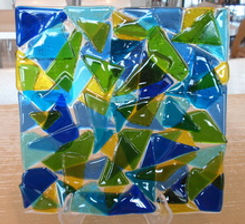 Glass fused art amazing glaze