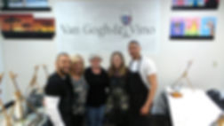 Van Gogh and Vino Art Studio Staff
