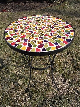 Hand made Mosaic Table Amazing Glaze