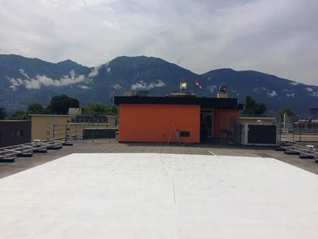 Spital Santa Chiara, Locarno: Beleuchtung Helikopterlandeplatz