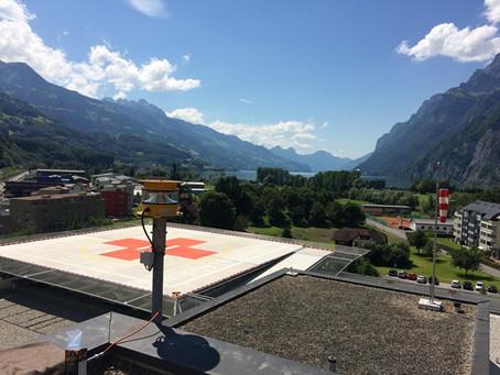 Spital Walenstadt - Beleuchtung Helikopterlandeplatz