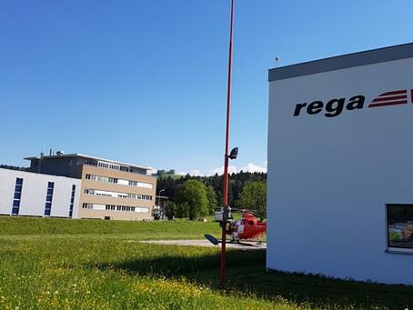 REGA Basis St. Gallen: Beleuchtung Helikopterlandeplatz