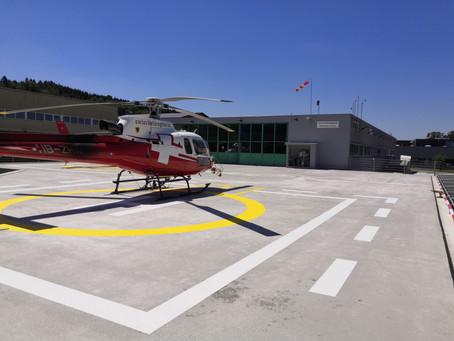 Swisshelicopter Pfaffnau: Beleuchtung Helikopterlandeplatz