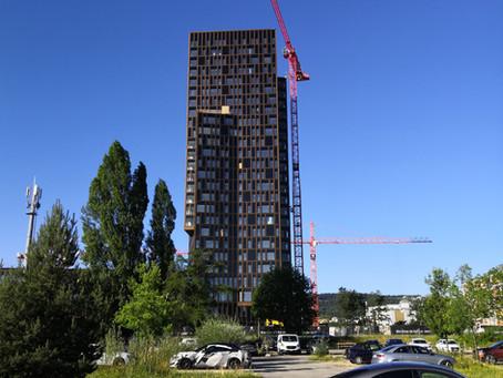 Hochhaus Giessenturm Dübendorf: Hindernisbefeuerung