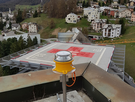 Spital Samedan: Beleuchtung Helikopterlandelatz