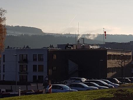 Klinik Stephanshorn St. Gallen: Beleuchtung Helikopterlandeplatz
