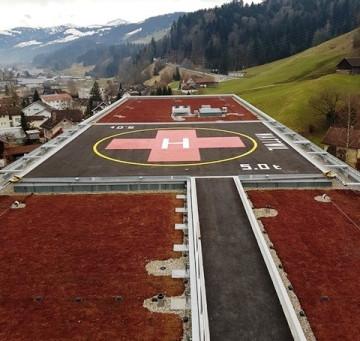 Spital Wattwil: Beleuchtung Helikopterlandeplatz