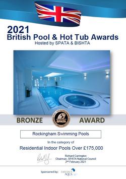 2021 Bronze Indoor Pools over 175