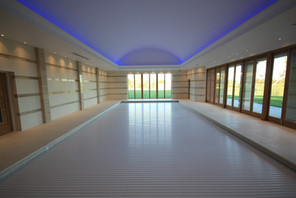 Indoor Pool with Automatic Slatted Cover