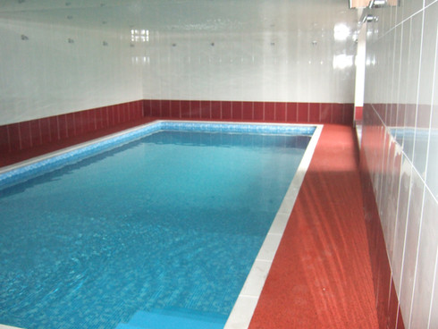 Indoor Freeboard Liner Pool with Rubber Flooring Surround