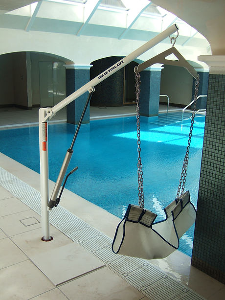 Commercial Pool with Access Hoist into Water