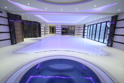 Indoor Sunken Coping Pool with Automatic Pool Cover
